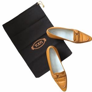 Tod's Saffron Yellow Kitten Heel Pumps & Dust Bag